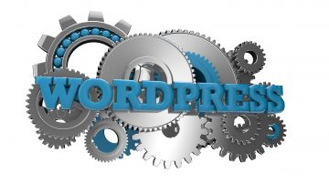 Word WordPress on top of Gears representing tech support